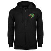 Black Fleece Full Zip Hoodie-Dragon Head