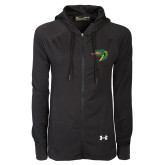 Ladies Under Armour Black Varsity Full Zip Hoodie-Dragon Head