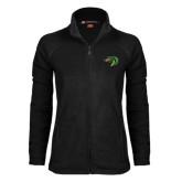 Ladies Fleece Full Zip Black Jacket-Dragon Head