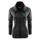 Ladies Sport Wick Stretch Full Zip Black Jacket-Primary Mark