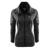 Ladies Sport Wick Stretch Full Zip Black Jacket-Dragon Head