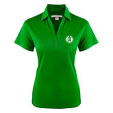Ladies Kelly Green Performance Fine Jacquard Polo-Primary Mark