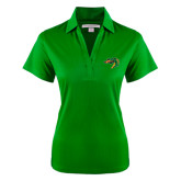 Ladies Kelly Green Performance Fine Jacquard Polo-Dragon Head
