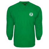 Kelly Green V Neck Windshirt-Primary Mark