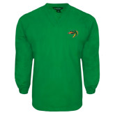 Kelly Green V Neck Windshirt-Dragon Head