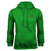 Kelly Green Fleece Hoodie-Dragon Head