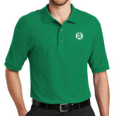 Kelly Green Easycare Pique Polo-Primary Mark