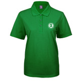 Ladies Easycare Kelly Green Pique Polo-Primary Mark