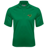 Kelly Green Textured Saddle Shoulder Polo-Dragon Head
