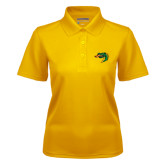 Ladies Gold Dry Mesh Polo-Dragon Head