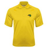 Gold Textured Saddle Shoulder Polo-Dragon Head