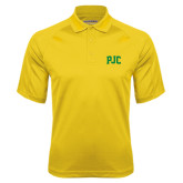 Gold Textured Saddle Shoulder Polo-PJC
