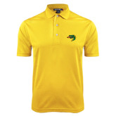 Gold Dry Mesh Polo-Dragon Head