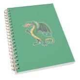 Clear 7 x 10 Spiral Journal Notebook-Secondary Mark