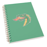 Clear 7 x 10 Spiral Journal Notebook-Dragon Head