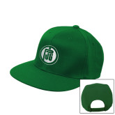 Kelly Green Flat Bill Snapback Hat-Primary Mark