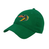 Kelly Green Twill Unstructured Low Profile Hat-Dragon Head