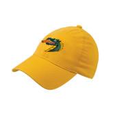 Gold Flexfit Mid Profile Hat-Dragon Head
