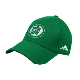 Adidas Kelly Green Structured Adjustable Hat-Primary Mark