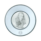 Silver Two Tone Small Round Photo Frame-Primary Mark Engraved
