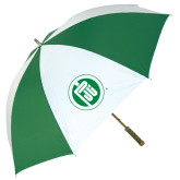 64 Inch Kelly Green/White Umbrella-Primary Mark
