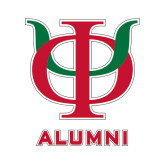 Alumni Decal-Interlocking Greek Letters, 6 inches tall