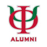 Alumni Decal-Interlocking Greek Letters, 6 inches tall