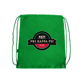 Kelly Green Drawstring Backpack-Official Logo