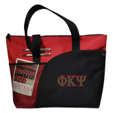 Excel Red Sport Utility Tote-Greek Letters