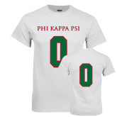 White T Shirt-PHI KAPPA PSI, Personalized w/ Number