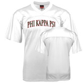 Replica White Adult Football Jersey-Arched Phi Kappa Psi