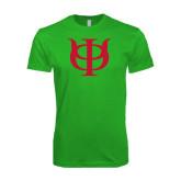 Next Level SoftStyle Kelly Green T Shirt-Interlocking Greek Letters