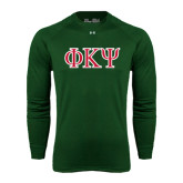Under Armour Dark Green Long Sleeve Tech Tee-Greek Letters