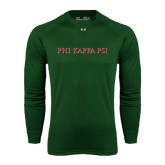 Under Armour Dark Green Long Sleeve Tech Tee-PHI KAPPA PSI