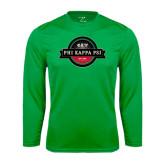 Performance Kelly Green Longsleeve Shirt-Official Logo