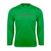 Performance Kelly Green Longsleeve Shirt-PHI KAPPA PSI