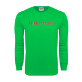 Kelly Green Long Sleeve T Shirt-PHI KAPPA PSI