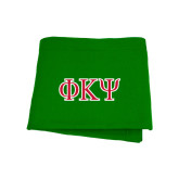 Kelly Green Sweatshirt Blanket-Greek Letters