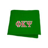 Kelly Green Sweatshirt Blanket-Greek Letters
