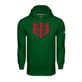 Under Armour Dark Green Performance Sweats Team Hoodie-Interlocking Greek Letters