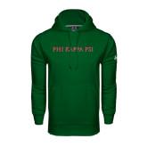 Under Armour Dark Green Performance Sweats Team Hoodie-PHI KAPPA PSI