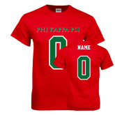 Red T Shirt-PHI KAPPA PSI, Personalized w/ Name and Number