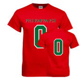 Red T Shirt-PHI KAPPA PSI, Personalized w/ Number