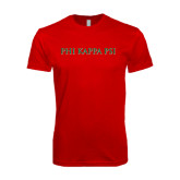 Next Level SoftStyle Red T Shirt-PHI KAPPA PSI