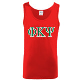 Red Tank Top-Greek Letters