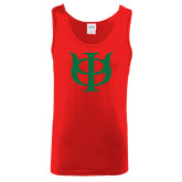 Red Tank Top-Interlocking Greek Letters