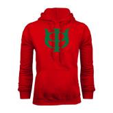 Red Fleece Hoodie-Interlocking Greek Letters