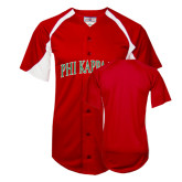 Replica Red Adult Baseball Jersey-Arched Phi Kappa Psi