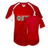 Replica Red Adult Baseball Jersey-Greek Letters