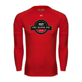Under Armour Red Long Sleeve Tech Tee-Official Logo